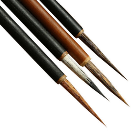 UE STORE Set of 4 Chinese Painting Brushes Set Flower Bird Line-Drawing Brushes