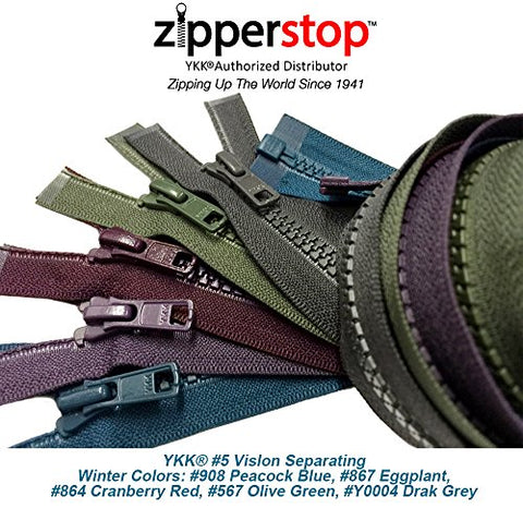 ZipperStop Wholesale YKK - Fashion Trends Zippers 30 Inch Sport YKK #5 Vislon Jacket Zipper (5