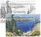 Crayola Color Escapes Coloring Pages & Pencil Kit, National Parks Edition, 12 Premium Pages, 12