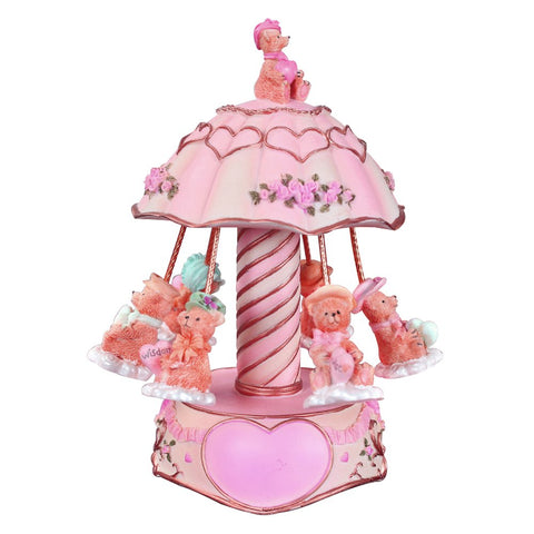 Laxury Youtang 6-Bears Carousel Music Box Musical Gifts Toys for Birthday,Play Castle in The Sky