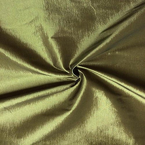 "Taffeta Stretch Fabric 2-Way Stretch 58"" Wide By The Yard (Metallic Gold)"