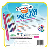 Paper Mate InkJoy Gel Retractable Pen, 0.7mm, Ink, Pack of 14, Assorted (1951636)