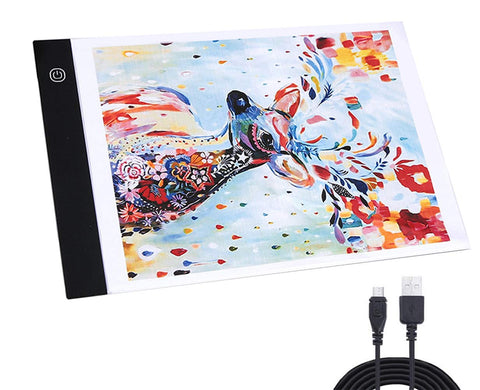 A4 LED Light Box Tracer USB Power Adjustable LED Light Tablet Board Pad for 5D DIY Diamond Painting