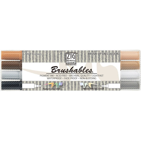 Kuretake Brushables Marker, Brown
