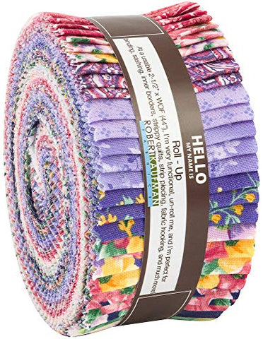 Woodside Blossom Spring Roll Up 40 2.5-inch Strips Jelly Roll Robert Kaufman Fabrics RU-752-40