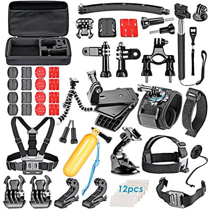 VanteexPro 60-in-1 Accessories Bundle Kit for Gopro HERO 6 5 4 3+ 3 2 1 Camera Accessories Combo
