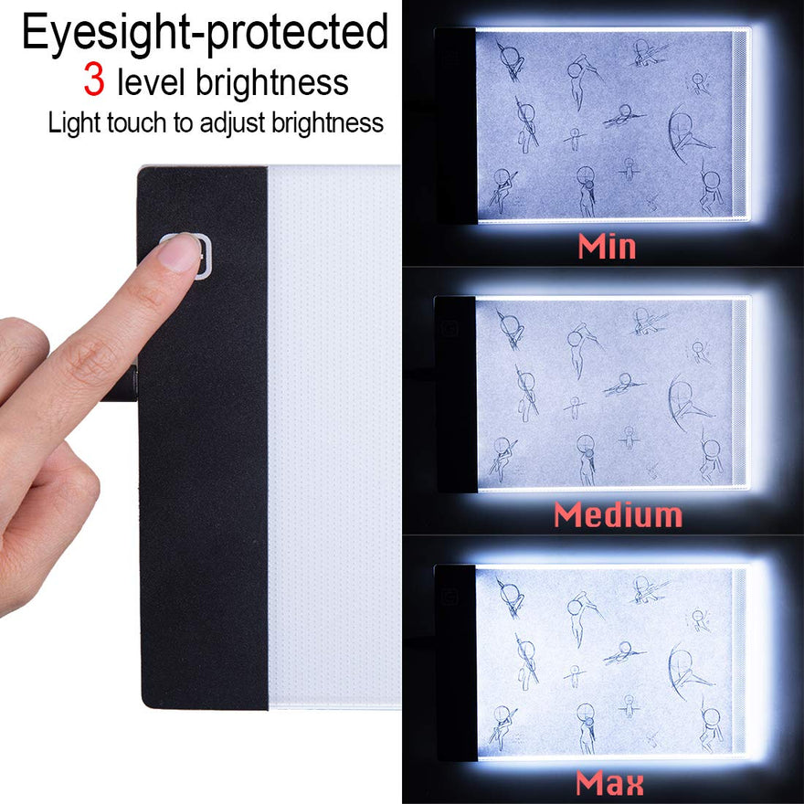 LED Lightbox for Drawing and Tracing with 300 Sheets Animation Paper LED Light Tablet for Tracing Flipbook Paper with Binding Screws Neeho A5 Flip Book Kit with Light Pad