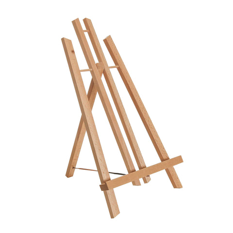 "U.S. Art Supply 14"" Medium Tabletop Display Stand A-Frame Artist Easel - Beechwood Tripod, Painting Party Easel, Students Classroom Table School Desktop, Portable Canvas Photo Picture Sign Holder"