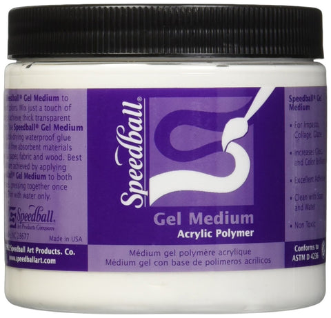 Speedball 16-Ounce Gel Medium, Pint
