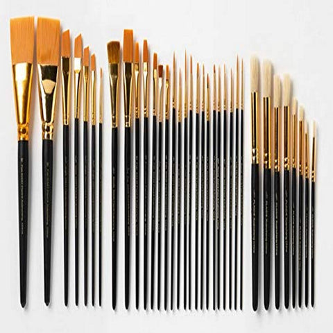 FolkArt PROMOUBS19 Ultimate Paint Brush Set, 35 Pack
