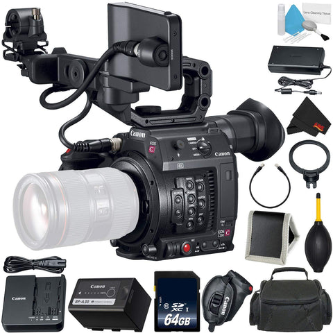 Canon EOS C200 Cinema Camera -EF-Mount International Model (2215C002) Bundle