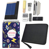 "Drawing Pencils Sketch Art Set-34PCS Drawing and Sketch Set Includes Drawing Book with 40 Thicker Sketch Papers (7x10"", 160g/m²), Graphite and Charcoal Pencils, Art Supplies for Kids Teens Adults"