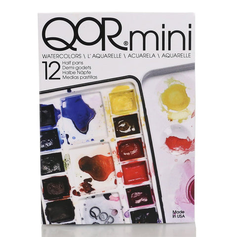 QoR Watercolor, Mini Half Pan Set of 12 Colors (7000015-0)