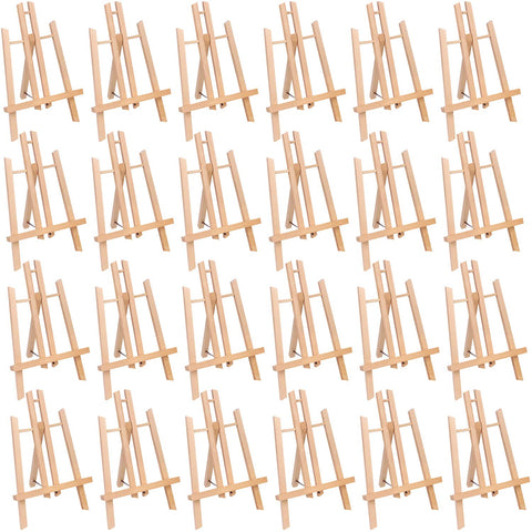 "MEEDEN 24 Pcs 11.8"" Tall Tabletop Easel - Small Solid Beech Wood Easel Painting Display Easel, Pack of 24"