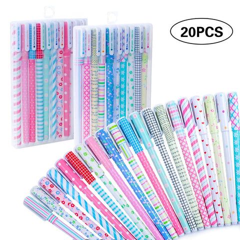 Cocoboo 20pcs Cute Color Pens, 0.5mm Gel Ink Pens, Multicolored Pens for Planner Writing Note, Calendar Coloring, Office, School Supplies, 10 Colors