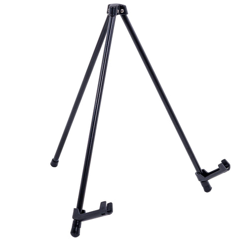 "U.S. Art Supply 14"" High Exhibitor Black Steel Tabletop Instant Display Easel - Small Portable Tripod Stand, Adjustable Holders - Display Paintings, Framed Pictures, Event Signs, Posters, Holds 5 lbs"