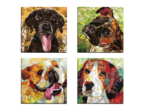 "Portfolio Canvas Decor ""Art Dog Beagle"" by Sandy Doonan Wrapped/Stretched Canvas Wall Art, 12 x 12"" (Set of 4)"
