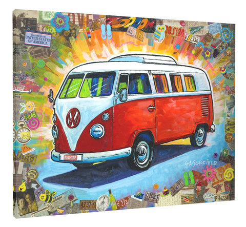 Easy Planet The Bus Canvas Wall Art (24 x 31.5 inches The Bus)