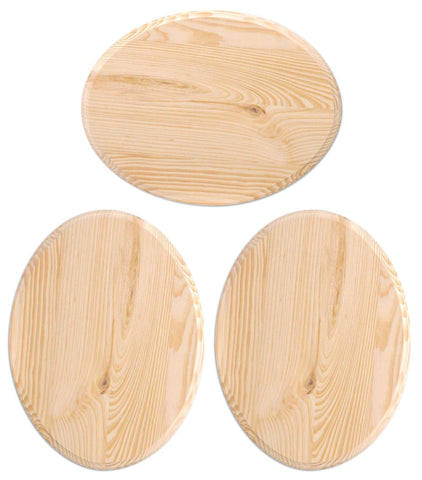 Darice Wood Plaque - 3-Pack Bundle - 9 x 12 inch - Oval
