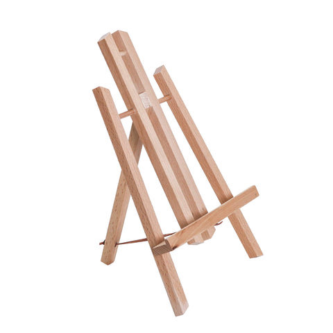 "U.S. Art Supply 11"" Small Tabletop Display Stand A-Frame Artist Easel - Beechwood Tripod, Painting Party Easel, Kids Students Classroom Table School Desktop - Portable Canvas Photo Picture Sign Holder"
