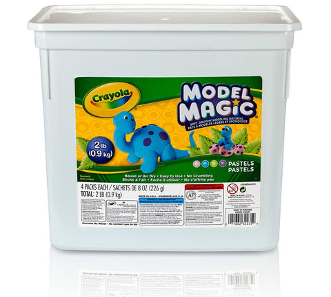 Crayola Model Magic Pastel Bucket, Easy Alternative to Modeling Clay, 2 lb, Gift for Kids (BIN232235)