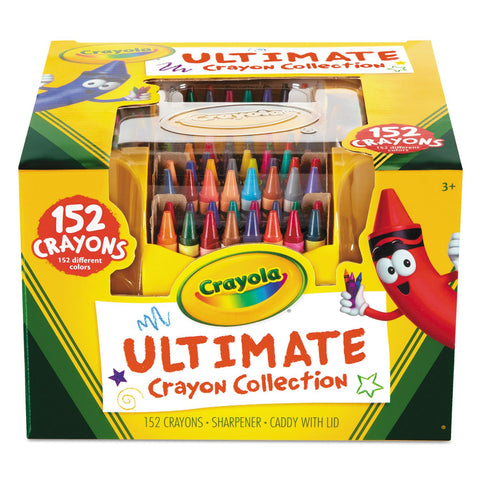 Crayola Ultimate Crayon Caddy with Lid and Sharpener, 152 Crayons (520030)