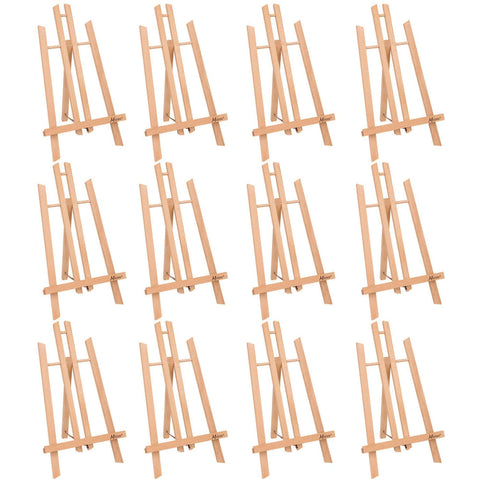 "MEEDEN 20"" Tall Tabletop Easel - 12PCS Medium Tabletop Display Solid Beech Wood Easel, for Kids Artist Adults Classroom/Parties Painting Display, Standing Easel, Hold Canvas Art up to 20"" High"
