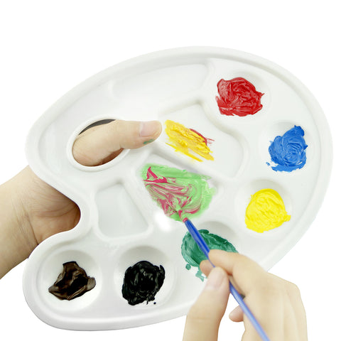 Paint Tray Palettes with Ten-well Thumb Hole -With Kare & Kind Retail Packaging