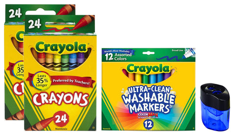Crayola Washable Markers, Broad Line (Markers + Crayons)