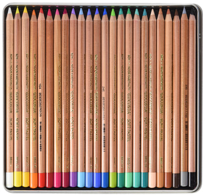 Koh-i-noor Gioconda Soft Pastel Pencils, 24 Assorted