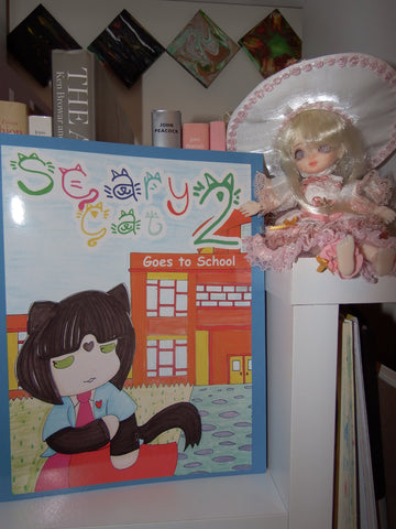 scary cat goes to school, bjd doll, best seller book