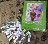 acrylic paint set,acrylic paper pad,paper pad