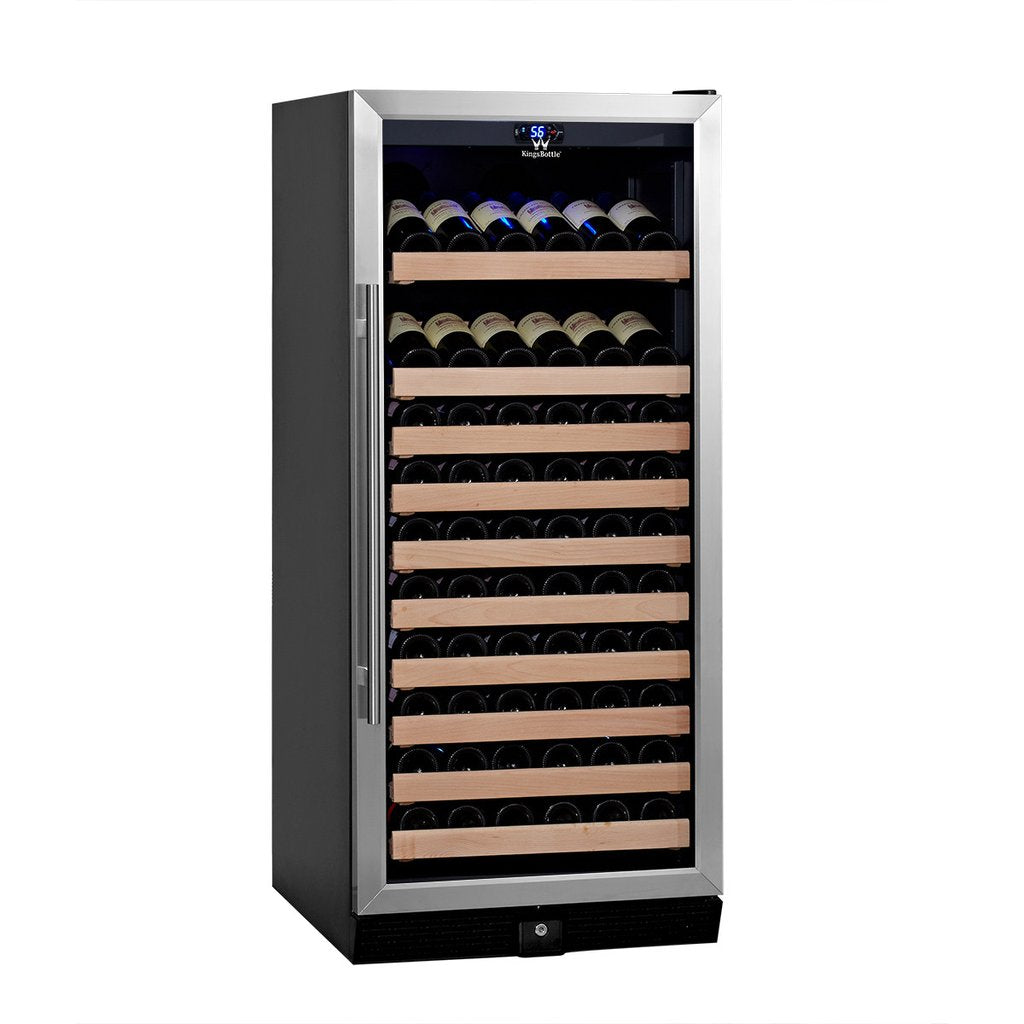 Kingsbottle 98 Bottle Glass Door Upright Wine Fridge Kb308wgs
