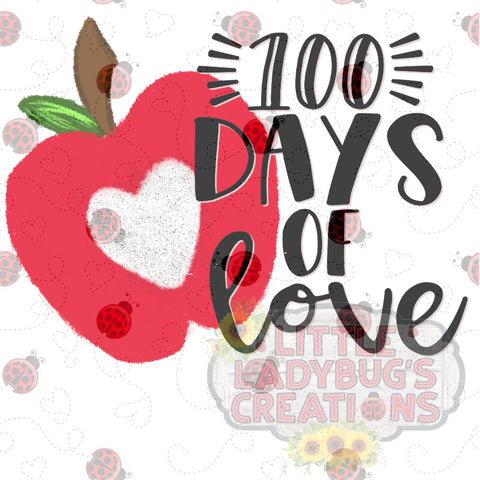 100 Days Of Love Sublimation