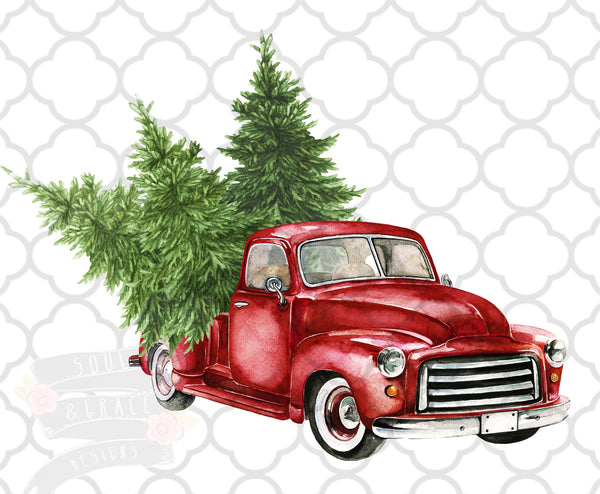 Christmas Truck Trees