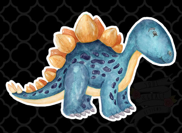 Blue Dinosaur Decal