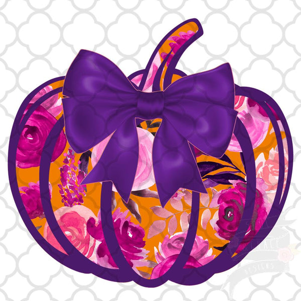 Preppy Purple Pumpkin