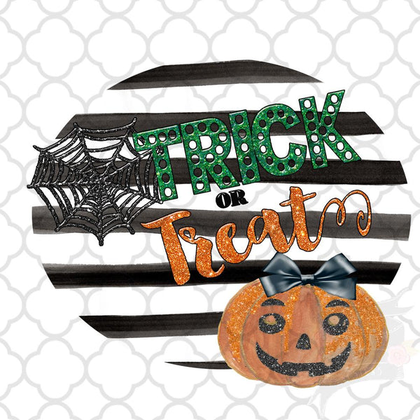 Trick or Treat Pumpkin Bow