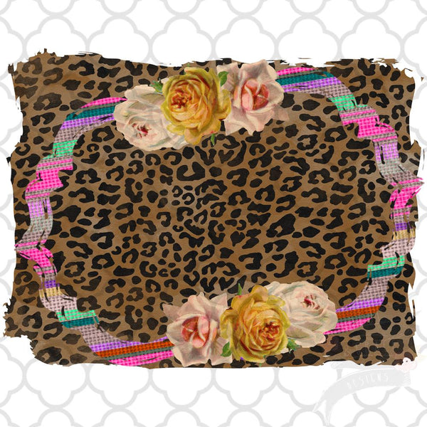 Vintage Rose and Leopard Frame