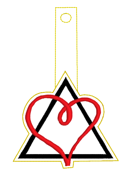Adoption Triad Key Fob Embroidery Design