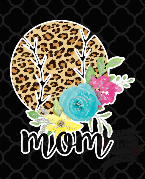 Leopard Ball Mom Decal