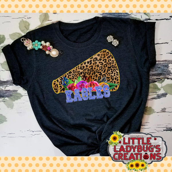 Leopard Print School Spirit Football/Cheer Tshirts