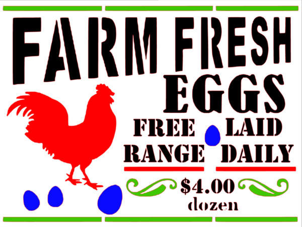 Farm Fresh Eggs for sale Yard Signs