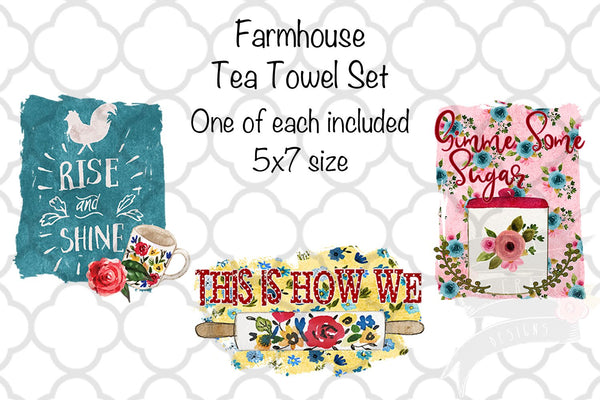 Farmhouse Kitchen Tea Towel Set