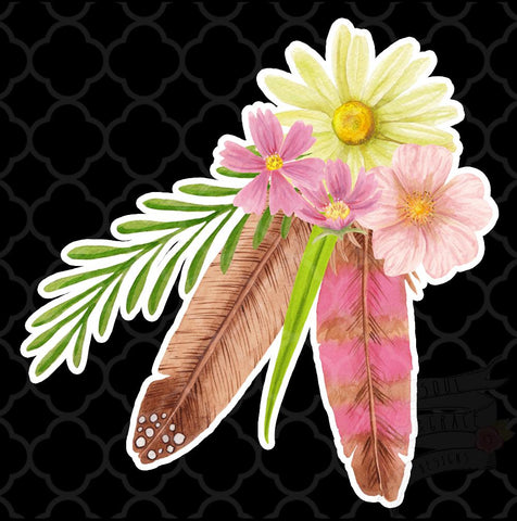 Feather Floral Decal