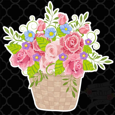 Flower Basket Decal