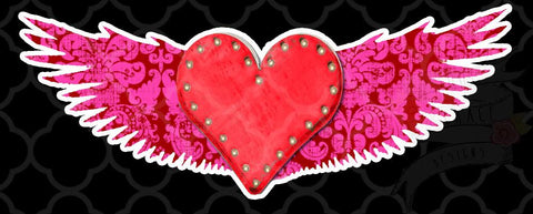 Gypsy Heart Wings Decal