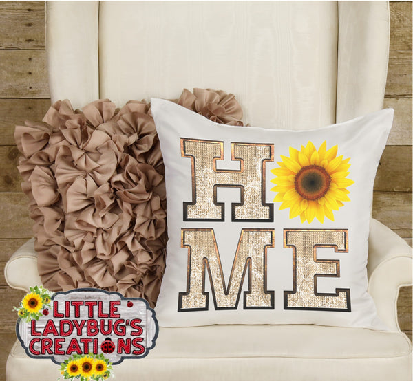 HOME Burlap and Lace Sunflower HTV Transfer