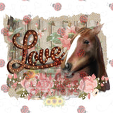 Horse Love HTV Transfer