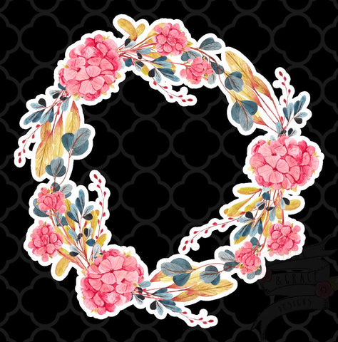 Hydrangea Wreath-Decal